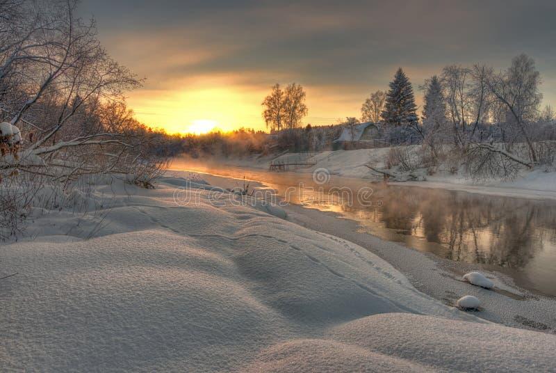 Río del invierno imágenes de archivo libres de regalías