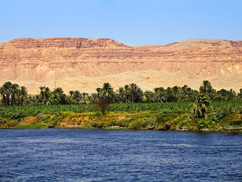 Río del Nilo, Egipto foto de archivo