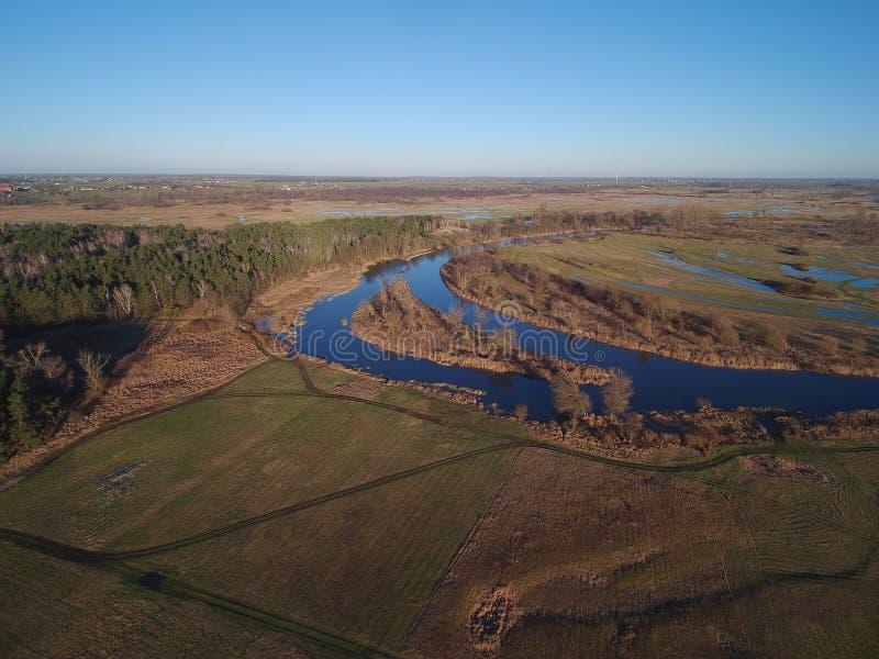 Río del warta de Polonia imagen de archivo libre de regalías