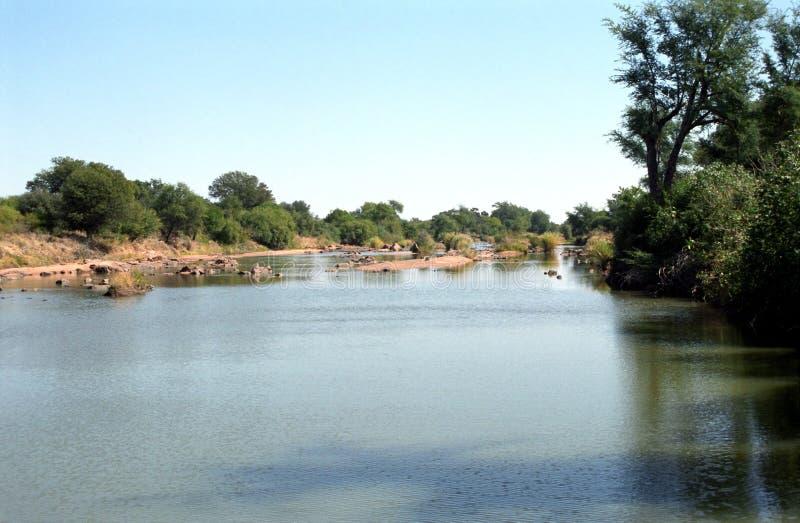 Río el Limpopo, Zanzíbar, república surafricana foto de archivo libre de regalías