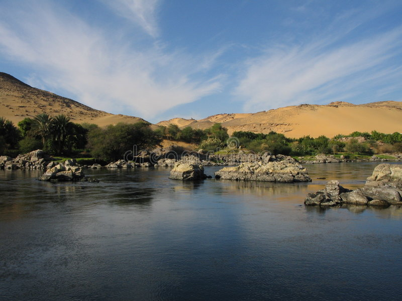Río el Nilo fotos de archivo