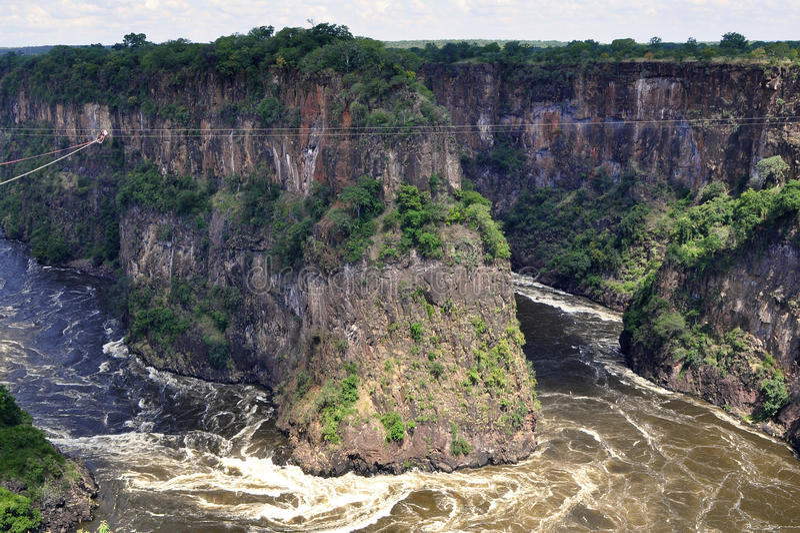 El río Zambezi, Zimbabwe foto de archivo libre de regalías