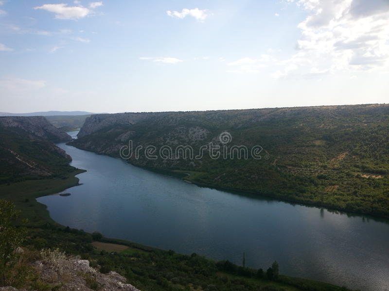 Río en el Canion foto de archivo