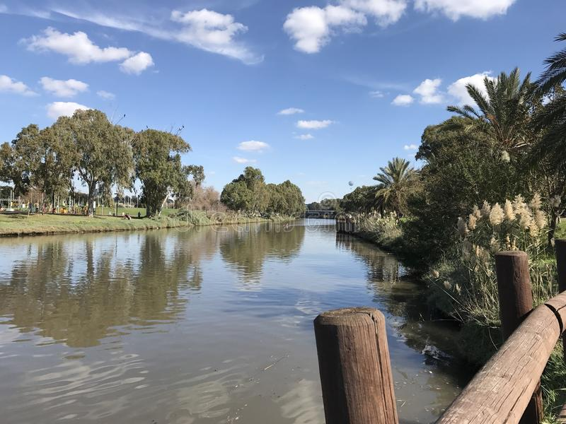 Río en el parque fotografía de archivo libre de regalías