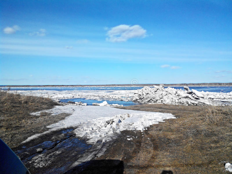 Río en Siberia fotos de archivo libres de regalías