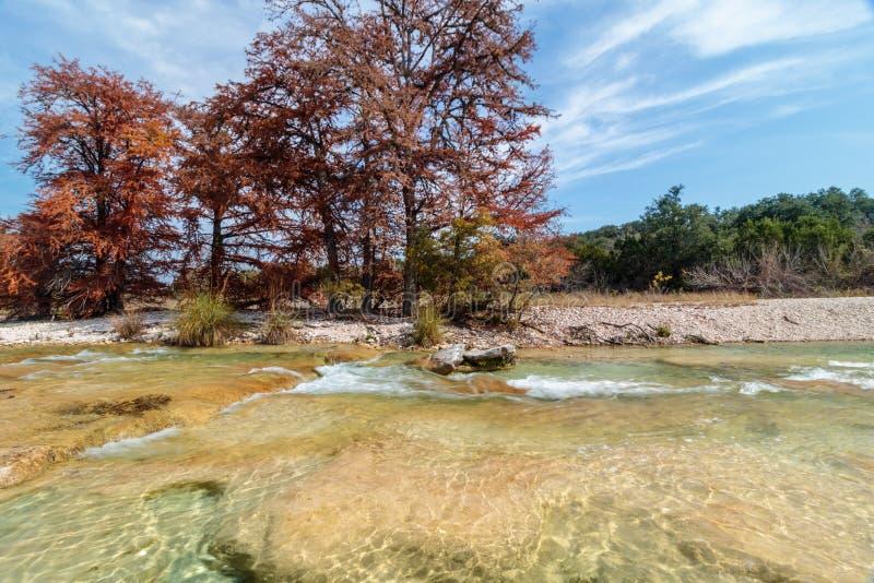 Río Garner State Park de Frio en Tejas fotografía de archivo