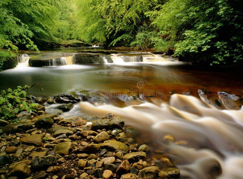 Río Gelt, Cumbria, Inglaterra imagen de archivo libre de regalías