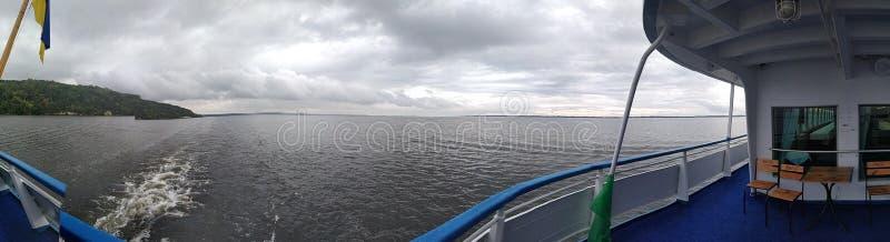 Río grande Dniepr de Ucrania imagen de archivo