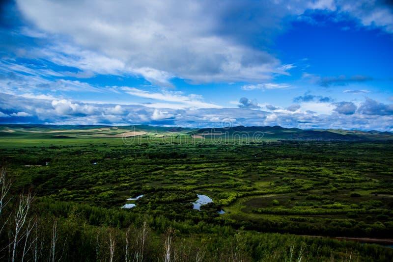 Río interno de Mongolia-Erguna fotos de archivo