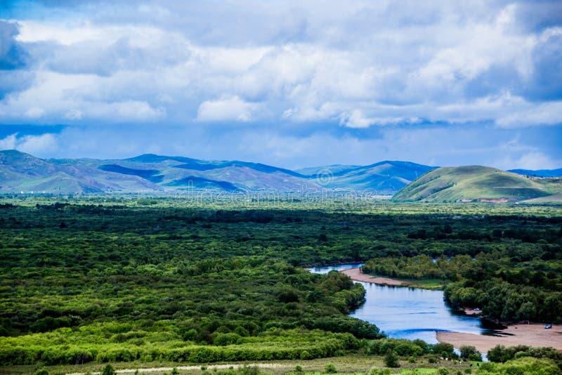 Río interno de Mongolia-Erguna imagen de archivo