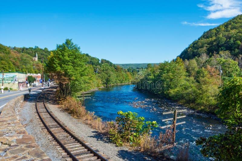 Río Jim Thorpe de Lehigh imagenes de archivo