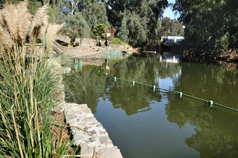 Río Jordán. fotos de archivo
