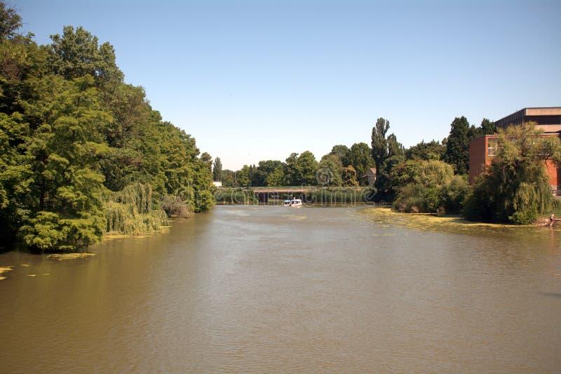 Río Koros, Szarvas, Hungría fotografía de archivo libre de regalías