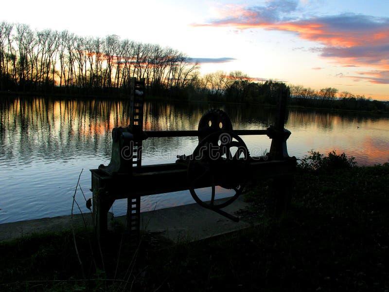 Río Labe - Watergate foto de archivo