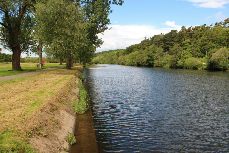 Río Lee en Cork Ireland foto de archivo