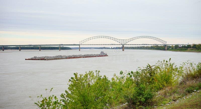 Río Misisipi en Tennessee imagen de archivo