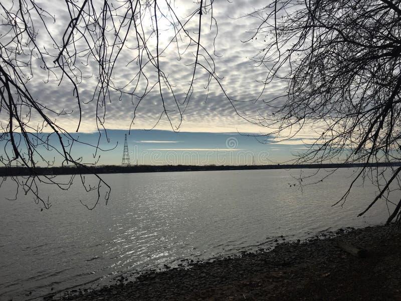 Río Misisipi Iowa imagenes de archivo