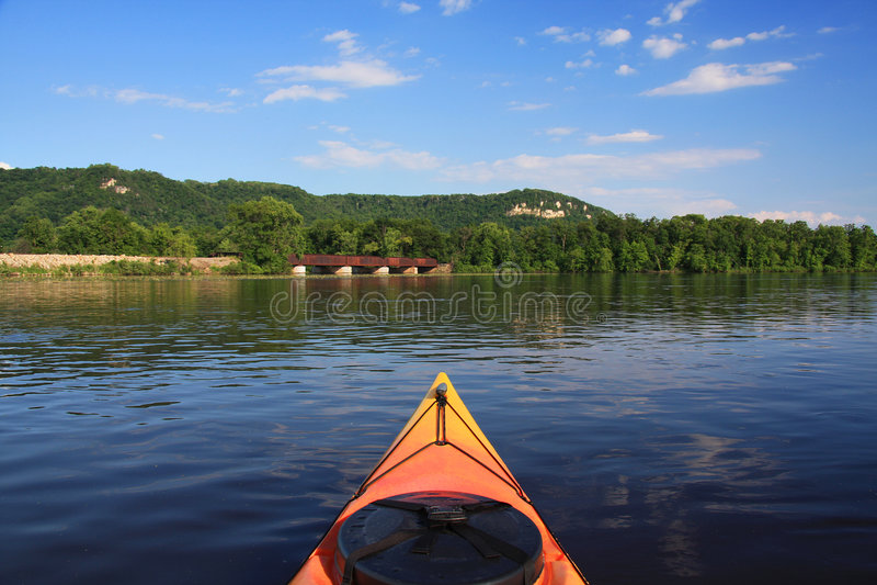 Río Misisipi Kayaking foto de archivo