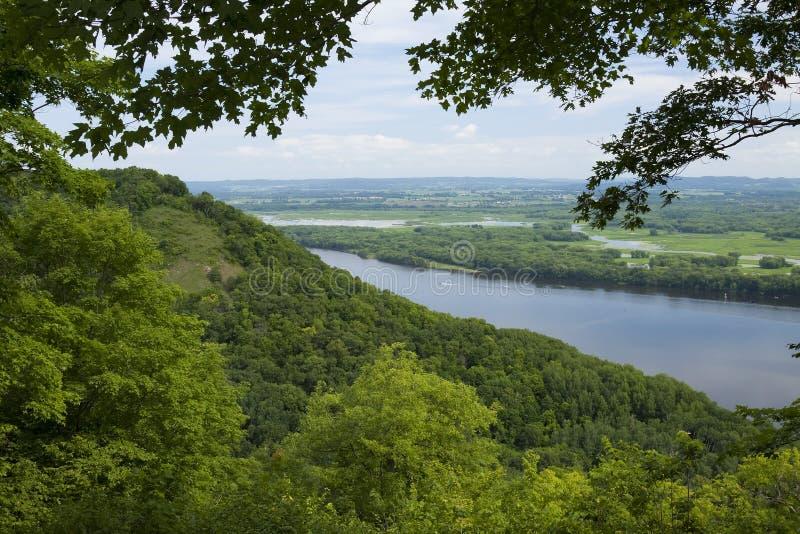 Río Misisipi Vista fotografía de archivo libre de regalías