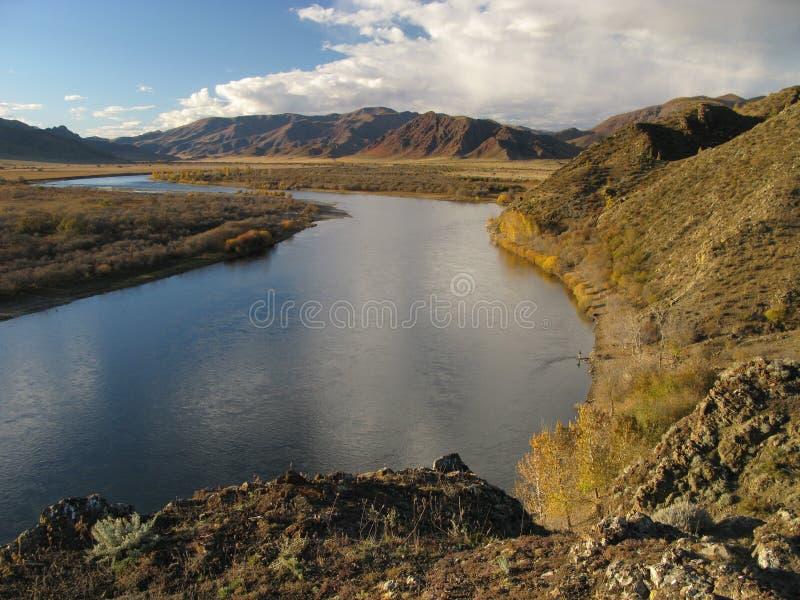Río Mongolia de Selenge imagen de archivo