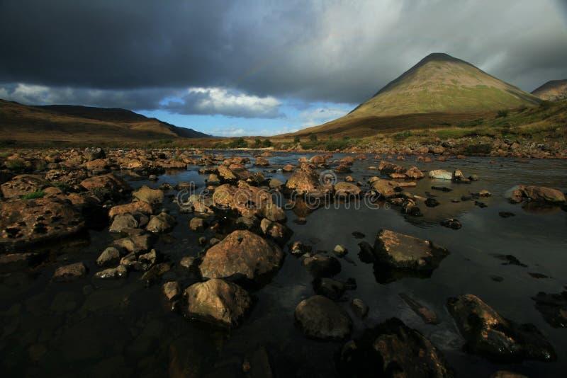 Río montañoso fotos de archivo