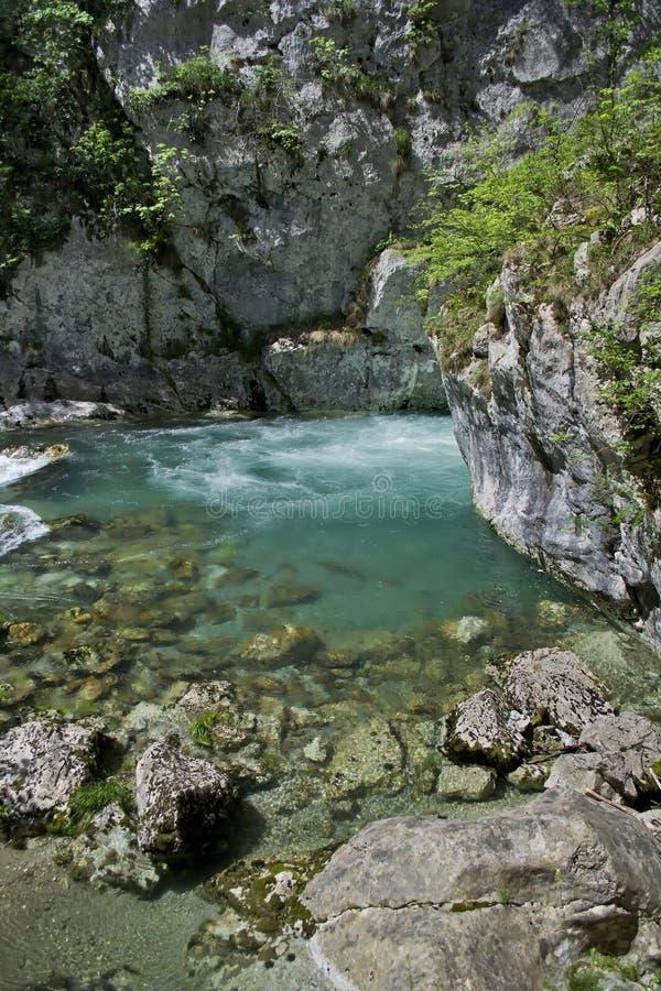 Río Mrtvica fotos de archivo