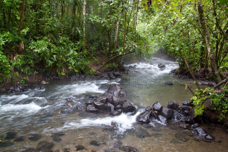 Río natural de las aguas termales fotos de archivo libres de regalías