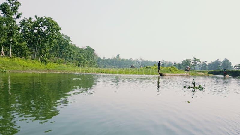Río Nepal de Sauraha foto de archivo libre de regalías