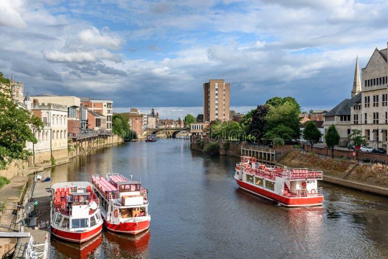 Río Ouse York Reino Unido imagen de archivo