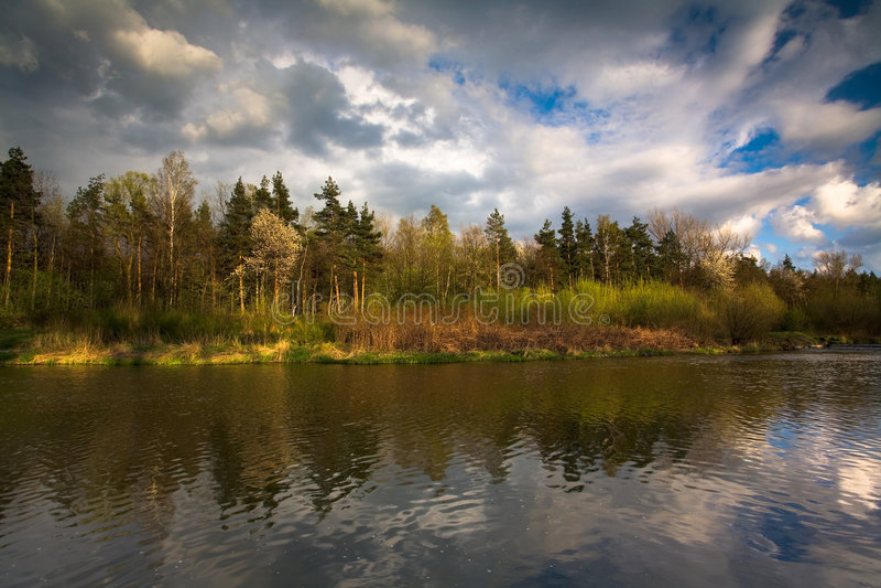 Río polaco de Vístula imagen de archivo