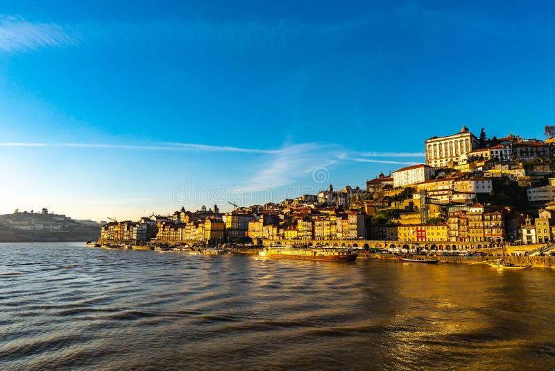 Río Porto Douro imagen de archivo