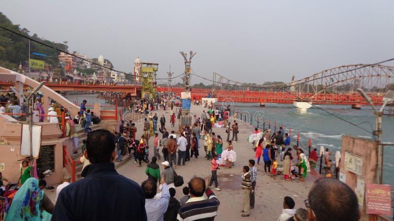Río santo Ghat de Ganga imagenes de archivo