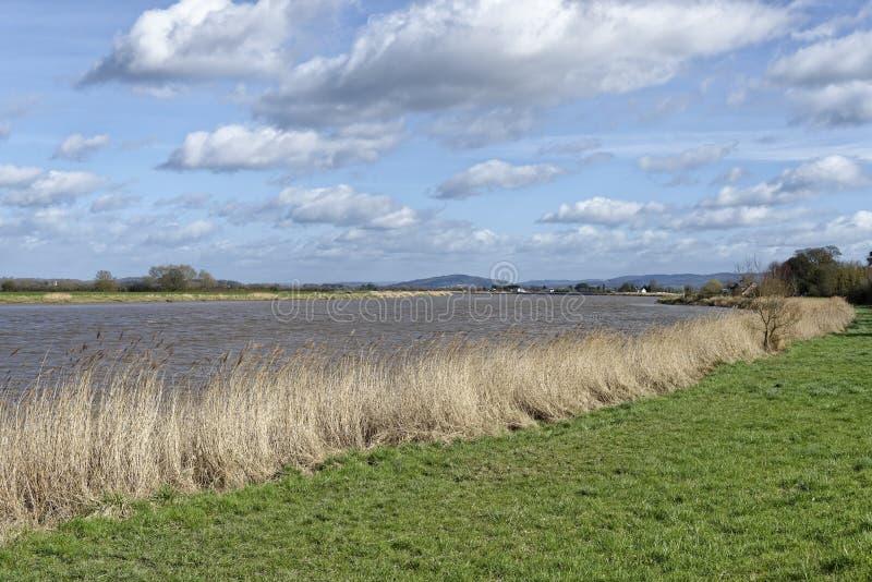 Río Severn en Framilode superior imagen de archivo