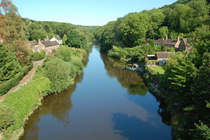 Río Severn Ironbridge imagenes de archivo
