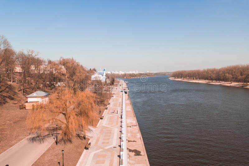 Río Sozh, Gomel, Bielorrusia foto de archivo libre de regalías