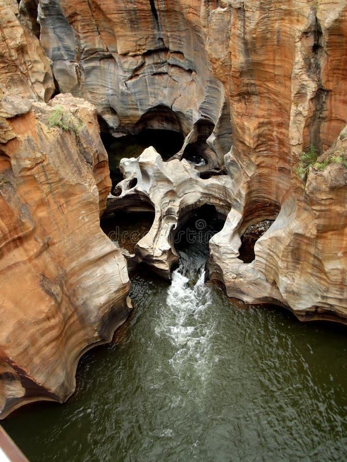 Río Suráfrica de Blyde de los agujeros de la suerte del ` s de Bourke imagen de archivo libre de regalías