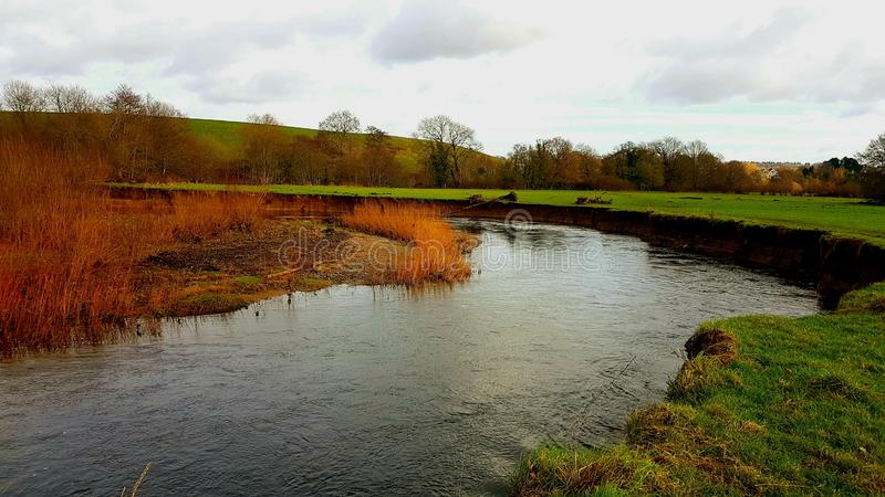 Río Teign cerca de Preston, DEVON, Reino Unido foto de archivo