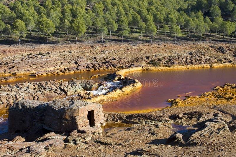 Río Tinto, España imagen de archivo