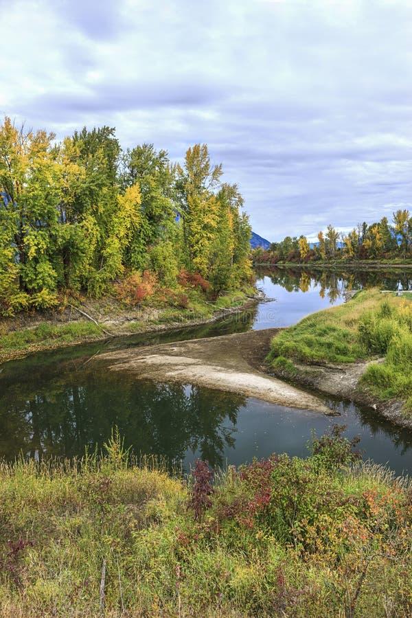 Río tranquilo en otoño en Idaho del norte fotografía de archivo