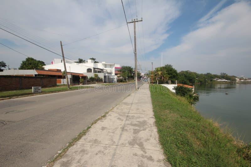 Río Tuxpan en México foto de archivo