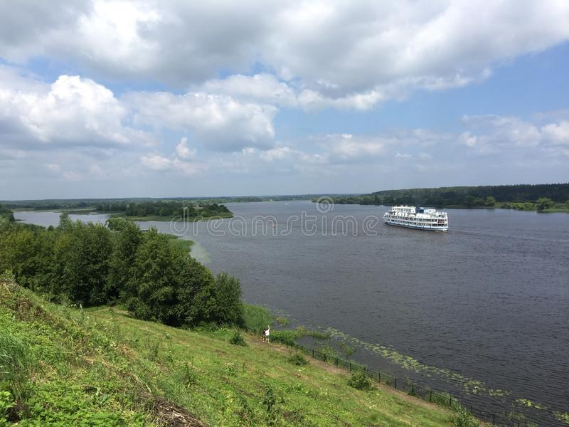 Río Volga fotografía de archivo libre de regalías