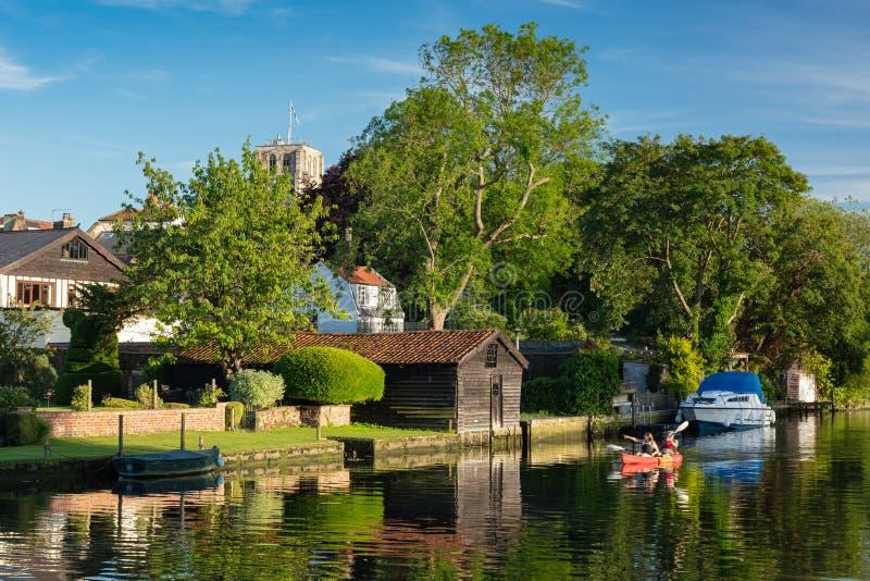 Río Waveney, Beccles, Reino Unido, junio de 2019 imagenes de archivo