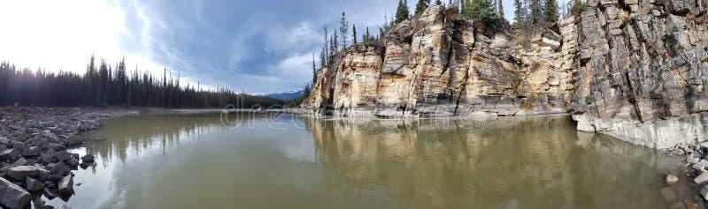 Río y caída de Athabasca fotografía de archivo