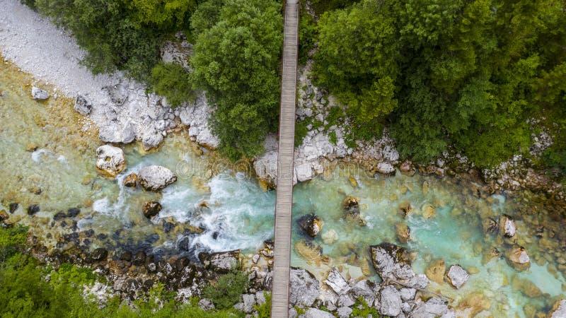 Río y puente de Soca imágenes de archivo libres de regalías