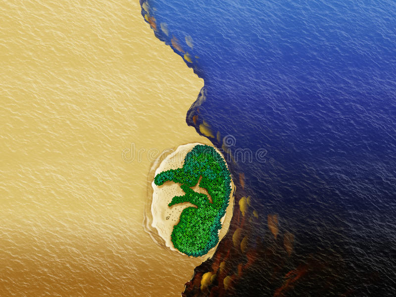Ríos de Amazonia stock de ilustración