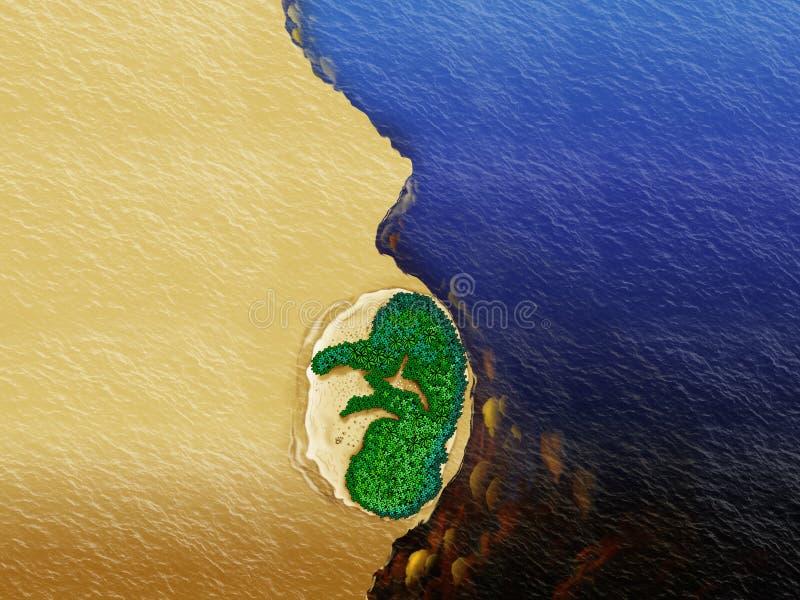 Ríos de Amazonia ilustración del vector