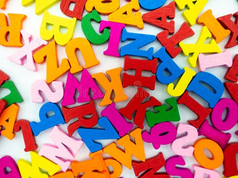 Ríos de letras coloreadas foto de archivo libre de regalías