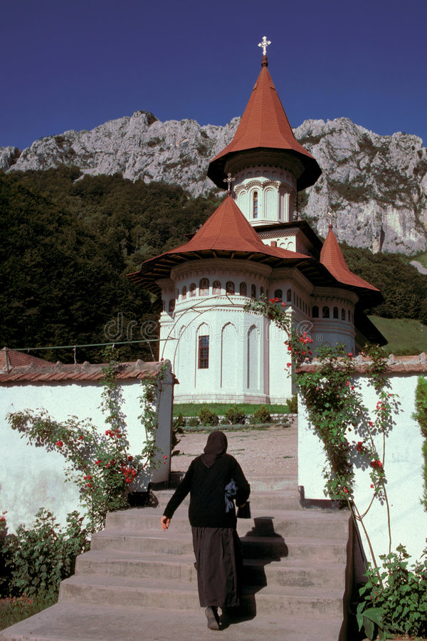 R�met monastery. Trascau Mountains, Romania royalty free stock photography