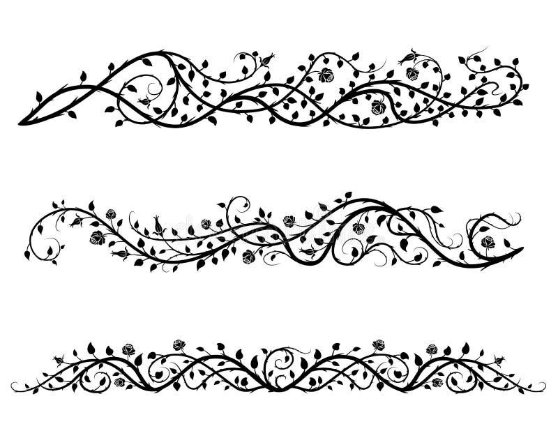 Róż granicy ilustracja wektor