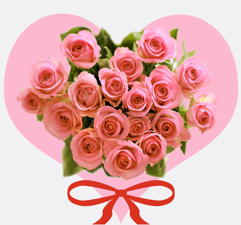 róż jest valentin obrazy stock